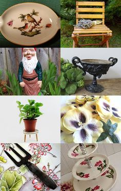 Garden Inspiration Vintage collection all for sale on etsy, click to buy millinery pansies!