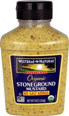 Westbrae Natural Organic Stoneground Mustard No Salt Added -- 8 oz - Vitacost No Sodium Foods, Low Sodium Diet, Low Sodium Recipes, Nutritional Yeast, Nutritional Supplements, Coconut Bacon, Fresh Cranberries, Organic Recipes, Food Processor Recipes