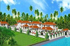 Villa For Sathy  Proposed View for Sathy Villas by Mathewandsaira architect in Cochin.