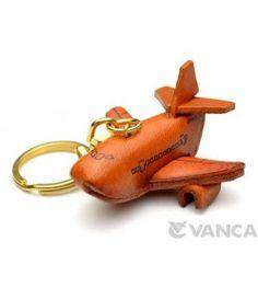 Airplane Leather Keychain(L)