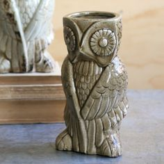 Ceramic Owl Vase, Cocoa made by Charming Accessories For Any Space.