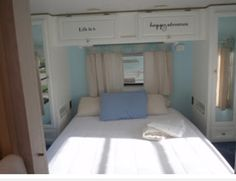 DIY RV Renovation, Hacks, Makeover and Remodel and Become Happy Camper and it's will Make Your Camper Living Awesome Again Rv Cabinets, Kitchen Cabinets, Paint Rv, Rv Trailers, Vintage Trailers, Travel Trailers, Trailer Diy, Trailer Decor, Camping Trailers
