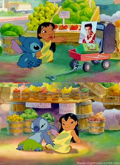I love how Elvis Presley music is used in Lilo Stich Disney Pixar, Walt Disney, Disney Films, Cute Disney, Disney Dream, Disney Animation, Disney And Dreamworks, Disney Magic, Disney Memes