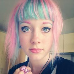 i use to have a bangs like this, the color that is :D they were so my little pony :D