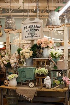 Beautiful space. Whether they're selling flowers or vases, it works.
