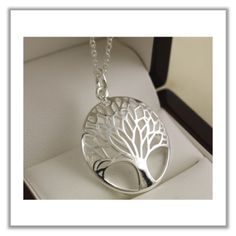 The tree of life is a mystical and magical tree well known throughout many cultures, dating back to ancient times. This is a beautiful sterling silver tree of life pendant necklace that can be worn fo More