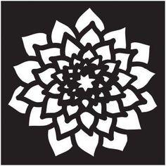 Small Dahlia Painting Stencil