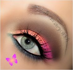 I think i would have done a lighter blue and maybe a light purple crease.. but its still pretty
