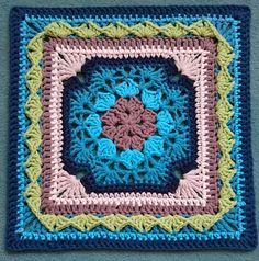 Ravelry: koernerklaus' Only Polly Afghan Crochet Squares Afghan, Crochet Blocks, Granny Square Crochet Pattern, Crochet Granny, Granny Squares, Crochet Motif, Afghan Crochet Patterns, Tablecloths, Afghans