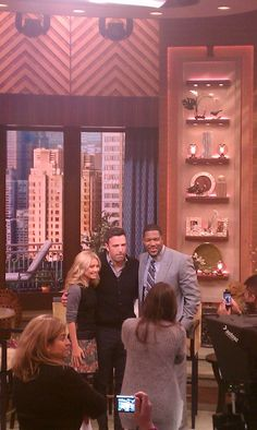 Ben Affleck visits Live with Kelly and Michael