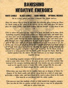 Banish Negative Energy, Book of Shadows Spell Page, Witchcraft, Wicca, BOS   Collectibles, Religion & Spirituality, Wicca & Paganism   eBay!