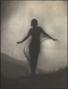 "Anne Brigman, The Breeze ca.1910  ~  ""There are wonderful moments, those rare moments when there is silence, a tangible silence out there, a silence deeper than silence.""   ~ Derek Jacobi  ~"