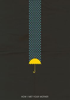 How I Met Your Mother (2005–2014) ~ Minimal TV Series Poster by Omer Aldemir #amusementphile