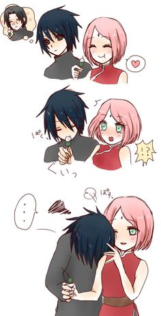 Find images and videos about naruto, sakura and sasuke on We Heart It - the app to get lost in what you love. Naruto Shippuden Sasuke, Anime Naruto, Sasuke Uchiha Sakura Haruno, Naruto Comic, Naruto Cute, Naruto And Sasuke, Itachi, Boruto, Sasusaku Doujinshi