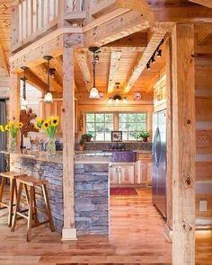 This is a pretty neat little kitchen  #dreamhome #littlekitchen #customdesign