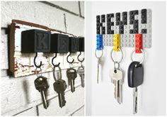 Buenísimas ideas sobre DIY cuelga llaves, para dejar las llaves a buen recaudo y no tener que andar siempre buscando dónde las dejaste.
