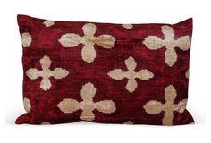 Juliana 15x23 Silk Velvet Pillow, Red - OKL $169