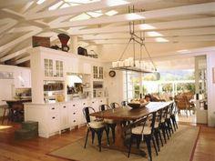 Beautiful open floor plan for a beach house