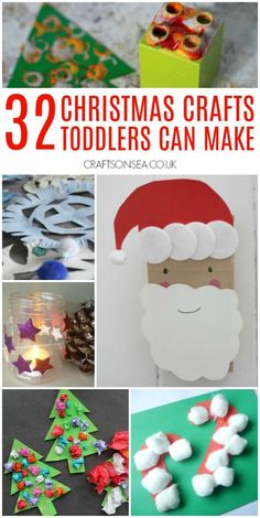 Fun and easy Christmas crafts for toddlers #christmascrafts #toddlers #christmasactivitiesforkids