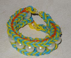 loom bands bracelet with beads