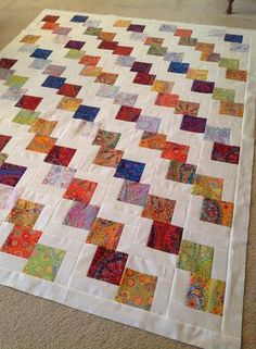 Новости. Fun idea for baby quilt. In lieu of white background, use pink or pastel blue.