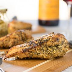 Feta and Pesto Stuffed Chicken Breasts are a healthy and flavorful way to impress your family at dinner!