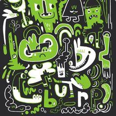 Jon Burgerman Art Designer Through Design Shark Tattoos, Year 9, Green Art, Little Monsters, Outsider Art, Graffiti Art, Comic Books Art, Cartoon Art, Doodle Art