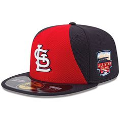 Men's St. Louis Cardinals New Era Red/Navy Authentic Collection Diamond Era On-Field 59FIFTY Fitted Hat with 2014 All-Star Game Patch