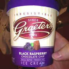 Graeter's black raspberry chocolate chip ice cream. I wish they would open a shop in Chicago!