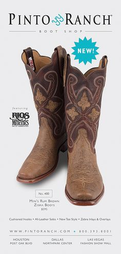 Southwest Magazine October 2016 featuring Rios of Mercedes Zebra Cowboy Boots.
