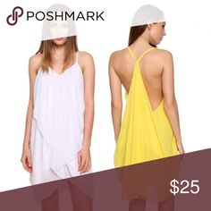 Sexy Asymmetrical Chiffon Dress This is available in Yellow and Pink Colors too  Stylish Sexy Asymmetrical Chiffon Dress  Chiffon Material  V neck  No Pockets  No Zipper  Good for casual and even wedding party  Handwash  measurement posted in the pic. The size i have on hand is small asian  12* Dresses Asymmetrical