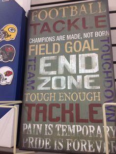 Football sign idea