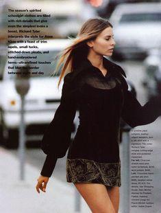 90s Fashion, Runway Fashion, Fashion Beauty, Autumn Fashion, Fashion Outfits, Vintage Fashion, Niki Taylor, Elle Us, 90s Models