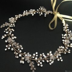 Wholesale cheap bridal hair vine online, only bride   - Find best  pearl and rhinestone bridal hair vine handmade beaded wedding headband at discount prices from Chinese wedding hair jewelry supplier - onlybride on DHgate.com.