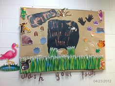 Germ bullentin board goes with our school jungle theme.