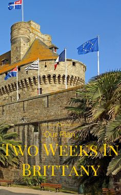 The itinerary for a two week visit to Brittany, France.