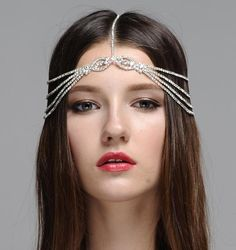 Bohemian Headpiece - Wedding Headpiece Romantic Crystal Embellished Bridal…