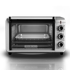 BLACK DECKER TO3210SSD 6-Slice Convection Countertop Toaster Oven, Includes Bake Pan, Broil Rack Toasting Rack, Stainless Steel/Black Convection Toaster Oven >>> This is an Amazon Affiliate link. Want to know more, click on the image.