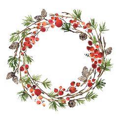 Watercolor Christmas Cards, Christmas Drawing, Christmas Paintings, Watercolor Cards, Kids Watercolor, Watercolor Paintings, Illustration Noel, Christmas Illustration, Illustrations