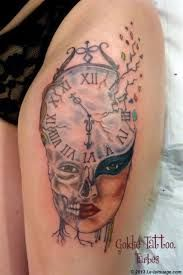 Tatouages horloge sur pinterest tatouages tatouages de montre et pocket watch tattoos - Tatouage horloge signification ...