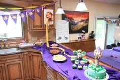 Rapunzel themed birthday party