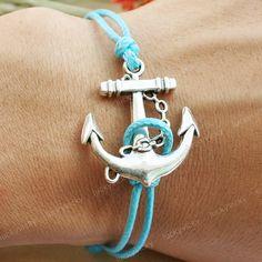 Bracelet-Anchor bracelet-vintage anchor bracelet. $4.99, via Etsy.