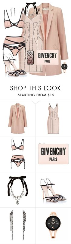 """""""blushing"""" by traceyenorton ❤ liked on Polyvore featuring Miss Selfridge, Hervé Léger, Agent Provocateur, Givenchy, Miu Miu, Giambattista Valli, Eva Fehren, Mixit and Casetify"""