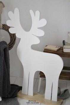 SeeHome Shop: Dekoracje świąteczne.Drewniany renifer.Renifer świ...
