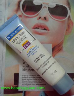 Neutrogena Ultra Sheer Dry Touch Sunblock SPF 50+ Review  Read full Review here  http://beautygyaan.com/index.php/neutrogena-ultra-sheer-dry-touch-sunblock-spf-50-review/