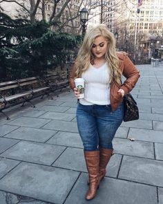 Casual summer outfits for curvy teen curvy fashion i Curvy Outfits, Casual Summer Outfits, Mode Outfits, Fall Outfits, Fashion Outfits, Womens Fashion, Fashion Ideas, Fall Dresses, Outfit Winter