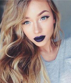 subtle eyes and bold lips - alice. Pretty Makeup, Love Makeup, Makeup Tips, Makeup Looks, Gorgeous Makeup, Makeup Geek, Makeup Trends, Makeup Ideas, Beauty Make Up