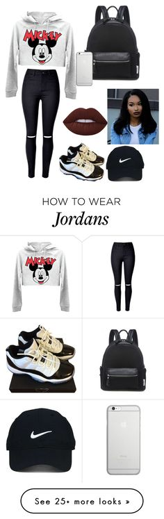 """""""My style"""" by keyasjahill12 on Polyvore featuring WithChic, NIKE, Lime Crime, Nike Golf and Native Union"""