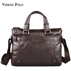 1fd5a8309058 VIDENG POLO Men Bag New Brand Leather Handbag High Quality Casual Business  Briefcase Laptop Crossbody Shoulder