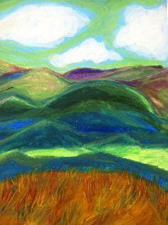 Appalachian Mountain Breeze framed original by ArtBySarahHinnant